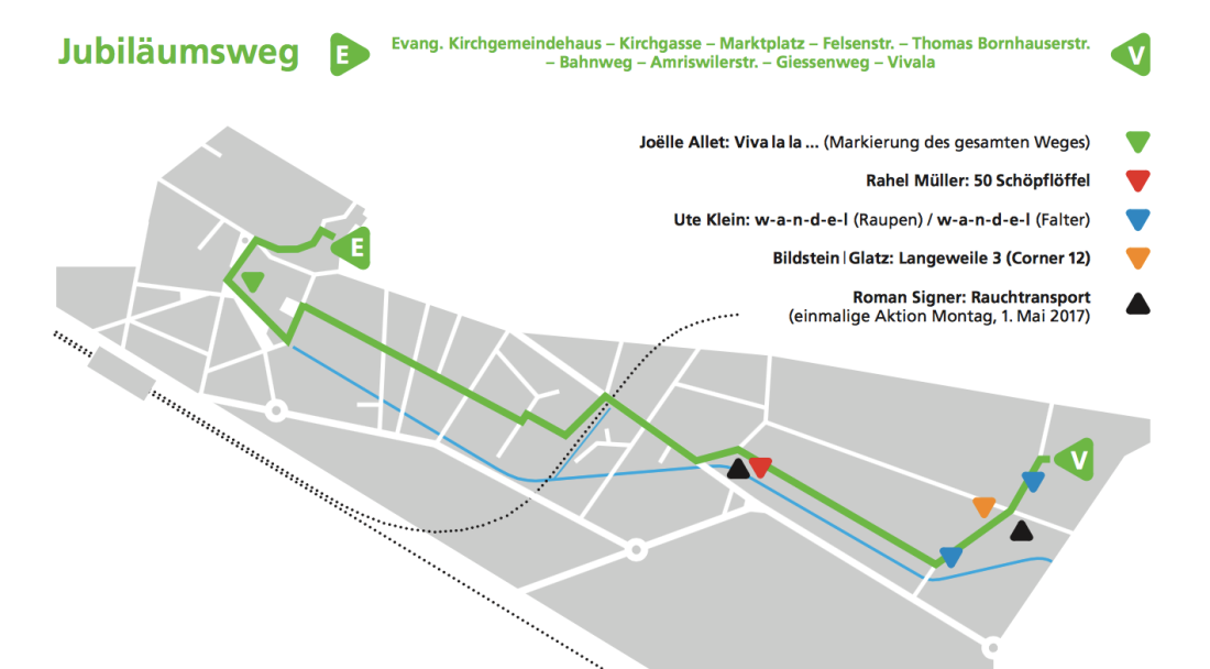 Karte Jubiläumsweg 2017