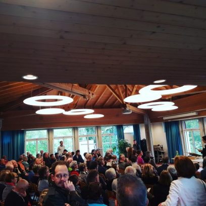 Feierliche Eröffnung des Jubiläumswegs im Kirchgemeindesaal