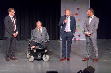 Regierungsrat Jakob Stark, Nationalrat Christian Lohr, Gemeindeamman Max Vögeli, Mario Testa