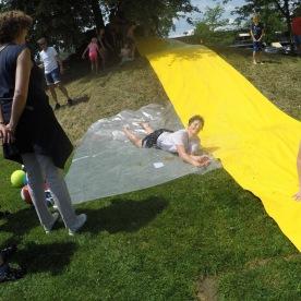 Die Wasserrutsche bereitete grossen Spass!